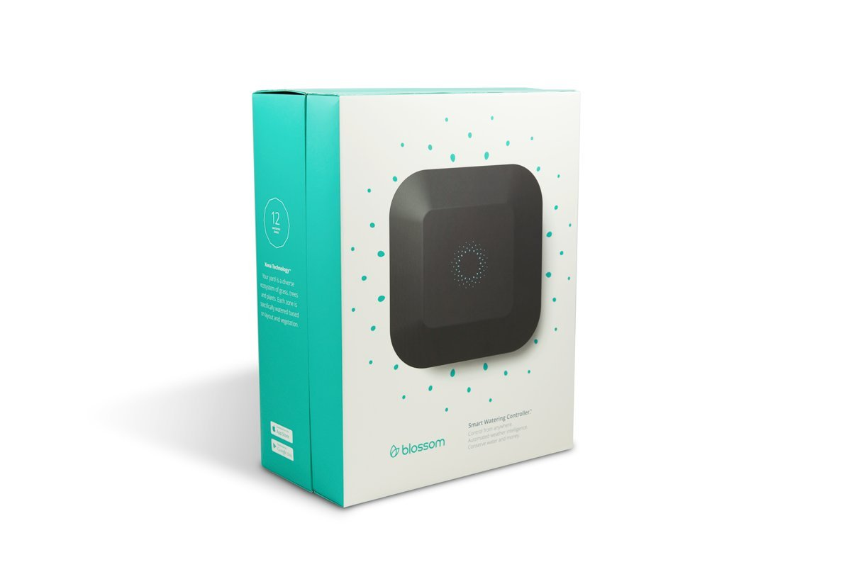 Blossom 12 Zone Smart Watering Controller with WiFi + Powerline - Self-Scheduling Sprinkler Irrigation System