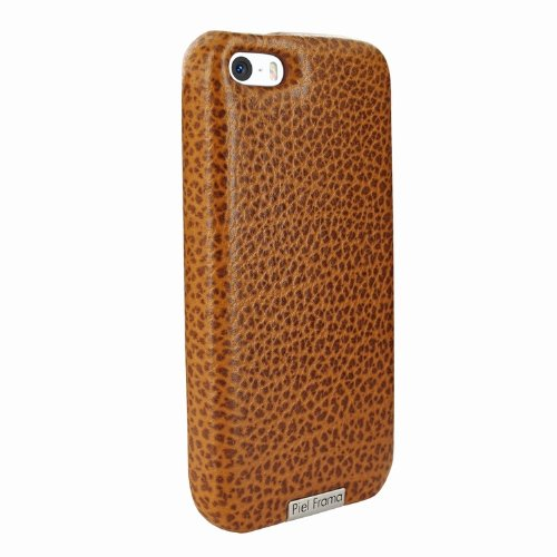 Special Sale Apple iPhone 5 / 5S Piel Frama Tan Karabu FramaGrip Leather Cover