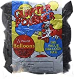 Kings 12 Inches Ultra Thickness Latex Balloon 100 Count - (Black)
