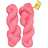 Vardhman Charming Acrylic And Nylon Knitting Light Salmon (200 Gm) Pack Of 2 (200 Gm)