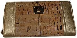 Lauren Ralph Lauren Women's *Percy Cork* Zip Around Wallet, Gold