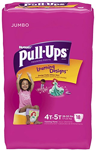 Huggies Pull-Ups Training Pants - Learning Designs - Girls - 4T-5T - 18 ct - 1