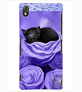ColourCraft Angel's Cat Design Back Case Cover for SONY XPERIA Z3