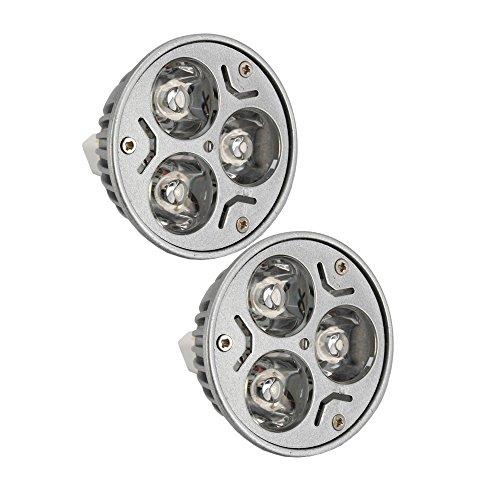 Olymstore(Tm) 2 Pcs Mr16 Dimmable 3W Dc 12V Led Light Bulb Lamp Spotlight Pure White 6000K 240Lm