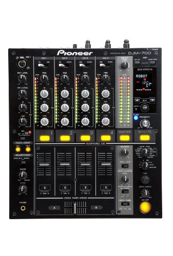 Pioneer DJM700K  4-Channel Mixer with Effects - Black