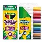 Crayola Bundles 12-Pencils and 24-Mar...