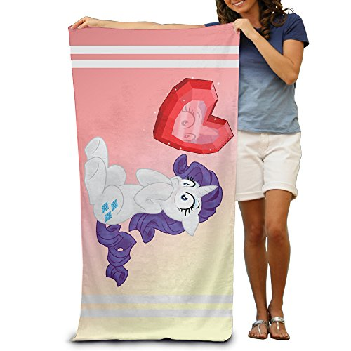 Satain My Little Hearts And Hooves Pony Adult Beach Or Pool Bath Towel 32 X 51 Inches