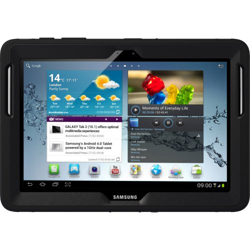 OtterBox Defender Series Hybrid Case for Samsung Galaxy Tab 2 10.1 - Black
