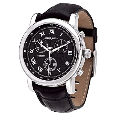 Jorg Gray JG7200-13 - Men's Swiss Chronograph Watch, Date Display, Sapphire Crystal, Leather Straps