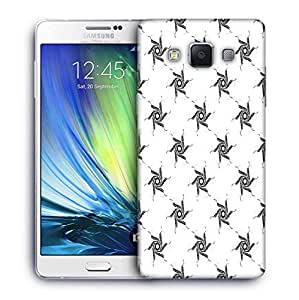Snoogg Grey Chakras Printed Protective Phone Back Case Cover For Samsung Galaxy A7