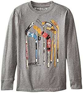 Wes & Willy Big Boys' Top Shelf Hockey Lst, Charcoal, Medium