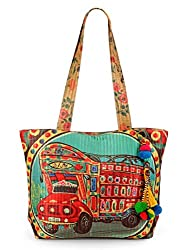 The House of Tara Quilted tote bag. (Multi Colour)