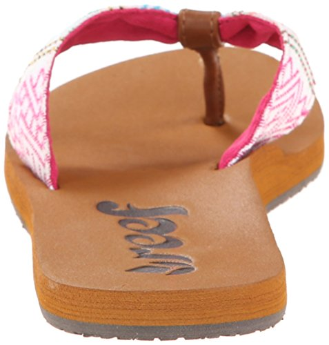 Reef Women's Scrunch TX Flip Flop,Pink Multi,8 M US