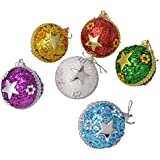 Decoration Craft Decoration Balls (4.2 Cm, Pack Of 6)