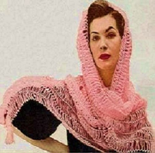 Crochet Pattern: GOLD COAST HAIRPIN LACE SHAWL - Downloadable vintage 1950's crochet pattern . Text-to-Speech enabled. Available for Download to Kindle ... crochet, crocheting, diy, clothing, clothes)