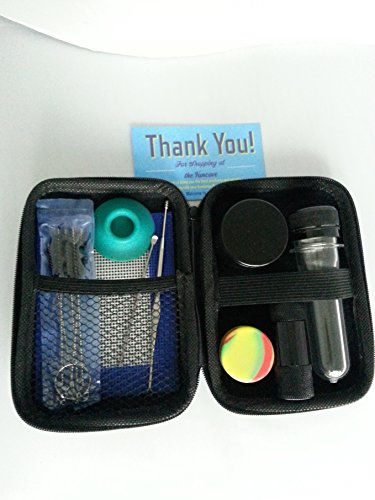 Ultra Vape Kit - Black 4 Part Grinder with Matching Pollen Press, Non Stick Mat & Silicone Jar with 2 Stainless Steel Tools (Vaporizer Herb Kit compare prices)