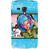 Girl Listening Music Hard Polycarbonate Designer Back Case Cover For Samsung Galaxy S3 Mini I8190 :: Samsung I8190...