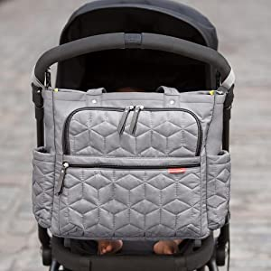 skip hop forma pack and go diaper tote gray baby. Black Bedroom Furniture Sets. Home Design Ideas