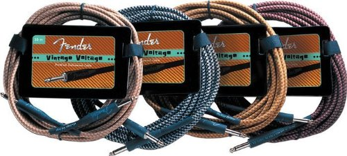 Fender Vintage Volt 18 Ft.  Electric Instrument Cable (Silver Black)