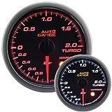 AUTOGAUGE(オートゲージ) 日本製モーター 52mm ブースト計 2色バックライト ワーニング付 シンプルファンクション 430シリーズ