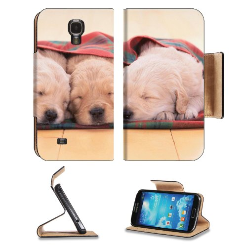 Puppies Dogs Sleeping Pets Animal Blanket Samsung Galaxy S4 Flip Cover Case With Card Holder Customized Made To Order Support Ready Premium Deluxe Pu Leather 5 Inch (140Mm) X 3 1/4 Inch (80Mm) X 9/16 Inch (14Mm) Liil S Iv S 4 Professional Cases Accessorie front-901030