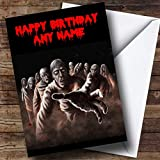 Scary Horrible Zombies Horror Personalized Birthday Card