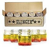THE SLINGER - 5 Mason Jar Shot Glasses with Lids