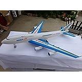 "Aeroplane Jumbo Jet Model 763 Jumbo Jet Big Size 14"" Long 14"" Wide 5"" Tall Pullback With Sound"