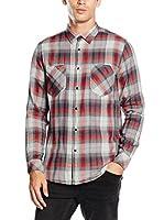 ZZ_Meltin Pot Camisa Hombre (Gris / Rojo)