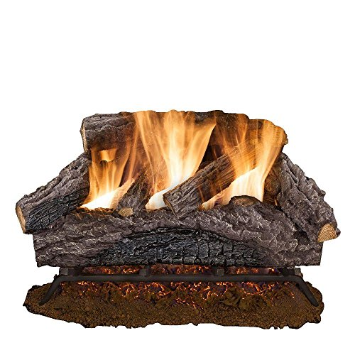 24 in. Charred River Oak Vented Natural Gas Log Set (Emberglow Vented Gas Logs compare prices)