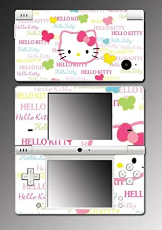 Cute Kitty Butterfly Pink Rainbow Girl Video Game Vinyl Decal Cover Mod Skin Protector 13 for Nintendo DSi