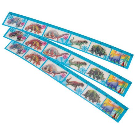 Dinosaur Flicker Rulers