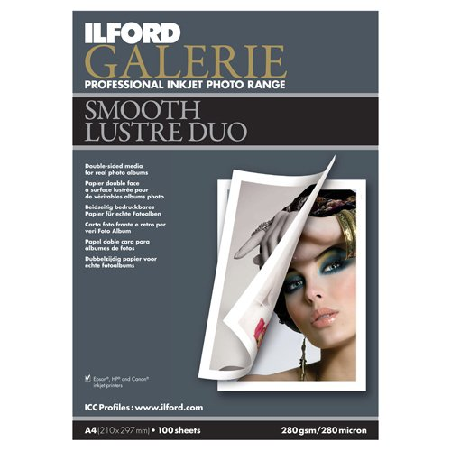 Ilford Galerie 21 X 29.7 cm Smooth Lustre Duo Sheets - A4 X 100