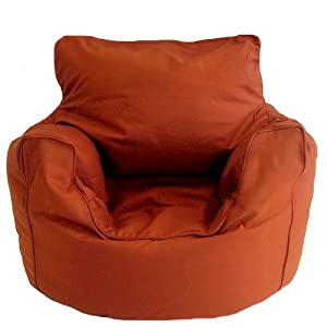 Terracotta Cotton Bean Bag Arm Chair with Beans Large 6 cuft