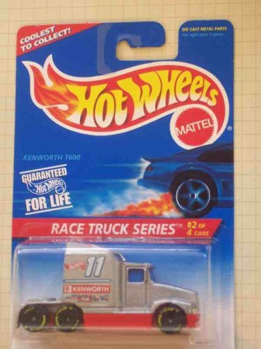 Race Truck Series #2 Kenworth T600 1996 #381 Collectible Collector Car Mattel Hot Wheels 1:64 Scale