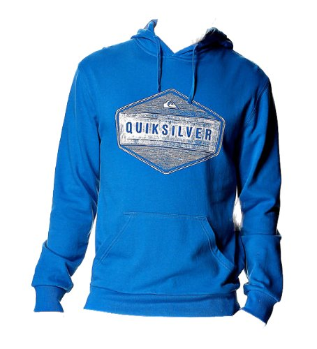 QUIKSILVER 2013 Mens 71 Centuries Hooded/Hoodie Top in Pacific Blue (XXL)
