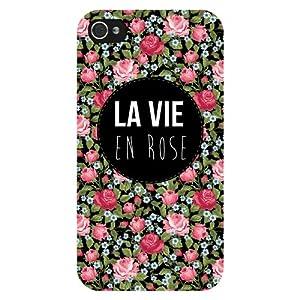 Coque rigide la vie en rose pour iPhone 4 / 4S: High tech