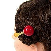 髪飾り 玉簪(かんざし)(飴)