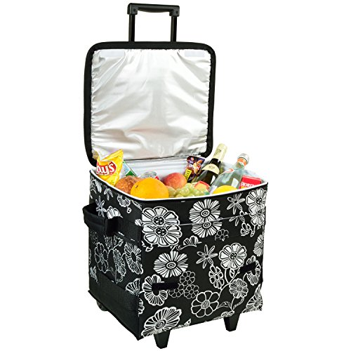 Picnic at Ascot 60 Can Collapsible Insulated Rolling Cooler - Night Bloom (Collapsible Cooler Waterproof compare prices)