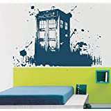Ik2254 Wall Decal Sticker Time Machine Spaceship Tardis Doctor Who Living Children's Bedroom