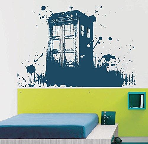 Ik2254 Wall Decal Sticker Time Machine Spaceship Tardis Doctor Who Living  Childrenu0027s Bedroom
