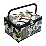 Singer Vintage Sewing Basket with Sewing Kit Accessories 07281