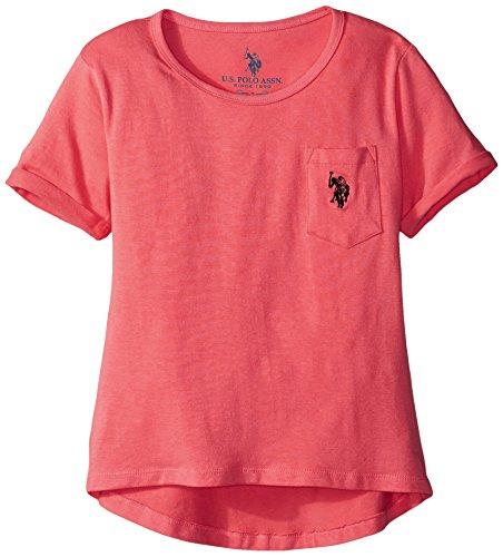 us-polo-association-big-girls-hi-lo-scoop-neck-pocket-t-shirt-azalea-12-14