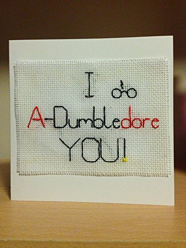 Harry Potter Valentines Day Card A-Dumbledore Needlepoint Blank Card with Envelope Handmade