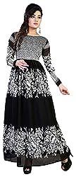 AVSAR PRINTS Women's A-Line Dress (Black)