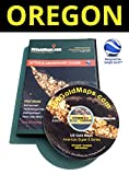 CD - Oregon American Super 8 Series US Gold Map for Prospecting - Featuring USGM MultiView and BLM LiveLink Technology - Active & Abandoned Placer, Lode, Mill and Tunnel Claims - (Designed for Google Earth)