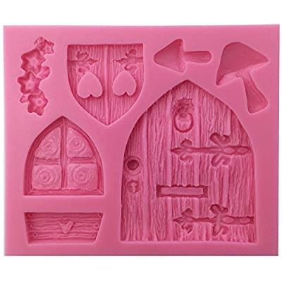 Funshowcase Enchanted Vintage Fairy Garden Fairy or Gnome Home Door Silicone Mold, for Cake Decorating, Crafting, Polymer Clay, Resin