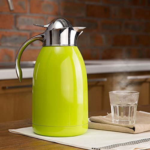 2.0 L Stainless Steel Double Wall Vacuum Insulated Jug Flask Carafe Coffee Pot (Green)