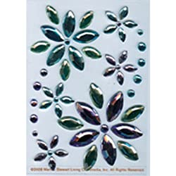 Martha Stewart Crafts Stickers, Blue and Lavender Gem