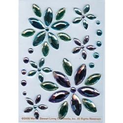 Martha Stewart Crafts Stickers, Blue and Lavender Gem